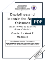 DISS_Q1_Mod2_Social Science as Scientific Study of Society