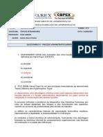 QUESTIONÁRIO DE FIXAÇÃO II - PROCESSO ADMINISTRATIVO - HENRY FAYOL