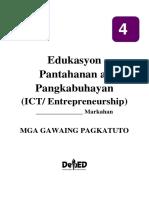 Grade 4 EPP (ICT Entrepreneurship) LAS