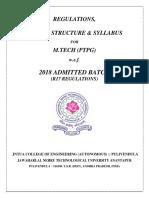 R17-M.Tech(PTPG)- Regulations & Syllabus