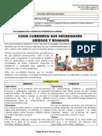 NECESIDADES DE GRIEGOS Y ROMANOS CLASE1