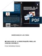 Metodología de la investigación para las ciencias contables - Ernan Santiesteban Naranjo 2018