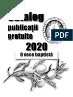 Catalog publicații gratuite 2020 - O Voce Baptistă