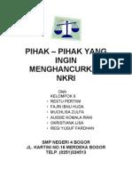 Pihak-pihak yang ingin menghancurkan NKRI (PKn) ver.2