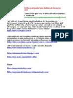 - Relación de Sitios WEBs y Foros en Español sobre la nueva medicina de Dr. Hamer. Cancer