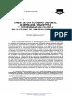 Crisis de una sociedad colonial. Identidades colectivas y representación política en la ciudad de Charcas (Siglo XVIII).pdf
