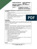 NUMERO DE LA ACTIVIDAD 4 - HITO MAMPOSTERIA - ESPECIFICACIONES TECNICAS - 12-12-2017