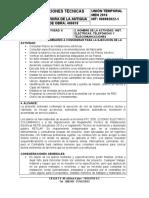 NUMERO DE LA ACTIVIDAD 6 - HITO ELECTRICAS - ESPECIF TECN- 12-12-2017
