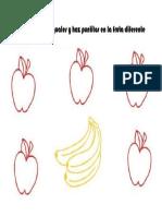 Ficha igual-diferente preescolar