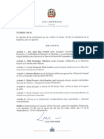 Decreto 348-20, que designa a la subdirectora general de la DIGEIG