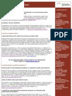 e-newsletter nadácie Pontis - január 2011