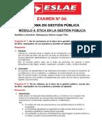 Examen N° 04 gestion publica
