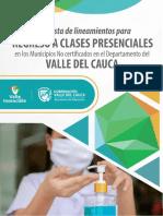 PROTOCOLO PARA EL REGRESO A CLASES