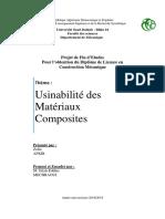 Usinabilité Des Composites V03 Mechraoui