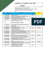 Agenda analisi 1 2019 - 2020