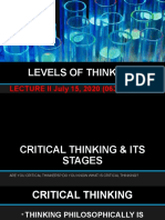 LECTURE - II LEVELS OF CRITICAL THINKING 15-07-2020.pptx