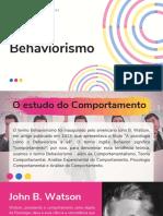 O Behaviorismo Aula 01
