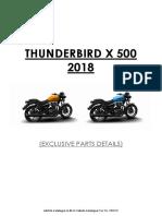 Thunderbird X 500 spare parts