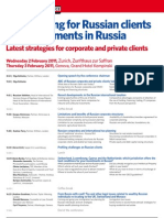 Tax Planning for Russian Clients and Investments in Russia