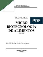 PLAN GLOBAL 2DO MICRO BIOTECNOLOGÍA DE ALIMENTOS