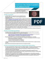 CDC COVID-19 vaccine planning documents