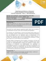 Formato respuesta - Fase 1 - Reconocimiento