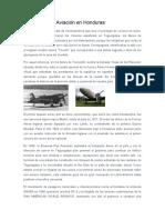 Historia de la Aviación en Honduras