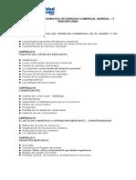 CONTENIDO PROGRAMATICO DE DERECHO COMERCIAL GENERAL