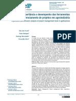 Análise de importância e desempenho das ferramentas de gerenciamento de projetos em agroindustria