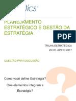 PLANEJAMENTO ESTRATÉGICO E GESTÃO DA ESTRATÉGIA