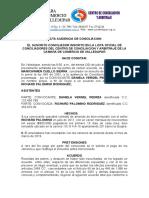 ACTA AUDIENCIA DE CONCILIACION