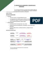 PESO ESPECIIFICO, PORCENTAJE DE ABSORCIÓN Y PORCENTAJE DE POROSIDAD