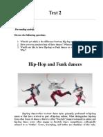 Text 2 Hip Hop and Funk dances