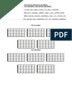 Ciclo das Quintas Escalas - Diagramas Vazios