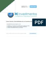 HC Investimentos - Como Calcular a Rentabilidade de um Investimento II