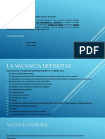 LA VACANCIA EN EL EMPLEO PUBLICO