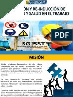 Inducción de seguridad y salud en el trabajo
