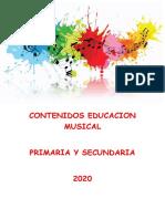 CONTENIDOS EDUCACION MUSICAL