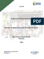 MINCOMERCIO informe-Programa-Turismo-Comunitario-2018