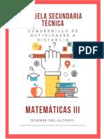 Cuadernillo 3er Grado Matematicas Secundaria Apoyo Contingencia 2020-2021