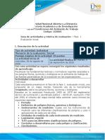 Guia de actividades y ruìbrica de evaluación - Unidad 1 - Fase 1 - Evaluación inicial