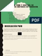 modulación PWM Y Control de velocidad de motores