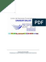 UNASUR-SALUD_Plan_Quinquenal_28_abril_2010_Cuenca