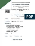 GRUPO 3-LA CONDUCTA  Y SUS NIVELES DE ANALISIS