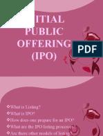 INITIAL PUBLIC OFFERING (IPO) 9.27.10