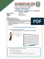EDUCACION PARA EL TRABAJO 06 II SEMESTRE