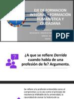 formacion H DERRIDA UNIVERSIDAD - Trabajo #1 Jonathan Sanchez