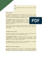 Diversas Formas de Clasificación investigacion cientifica