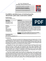 Feasibilities and effectiveness of web-based psych