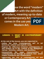 CONTEMPORARY ARTS